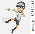 サッカー 漫画 ベクトルのイラスト 30352416