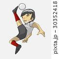 サッカー ベクトル 少年のイラスト 30352418