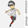 サッカー 漫画 ベクトルのイラスト 30352423