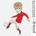 サッカー ベクトル 少年のイラスト 30352570