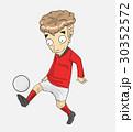 サッカー 漫画 ベクトルのイラスト 30352572