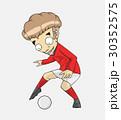 サッカー 漫画 ベクトルのイラスト 30352575