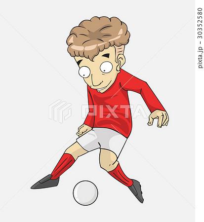 soccer player action kick the ball. 30352580