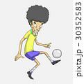 サッカー ベクトル 少年のイラスト 30352583