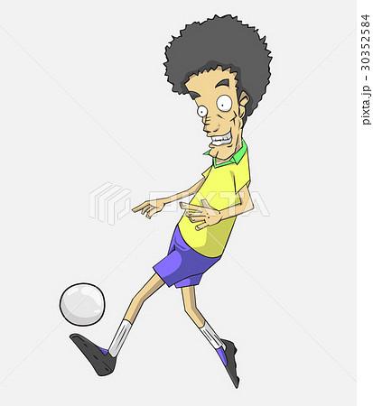 soccer player action kick the ball. 30352584