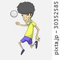 サッカー ベクトル 少年のイラスト 30352585