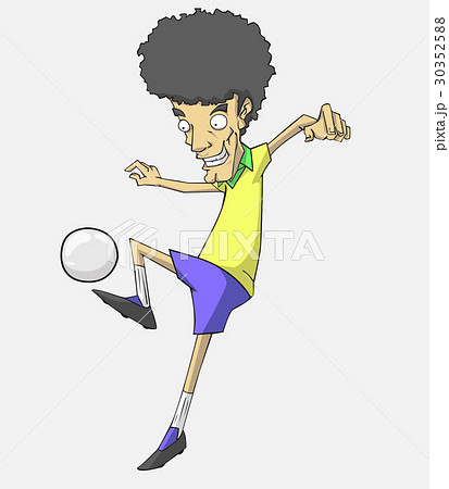soccer player action kick the ball. 30352588