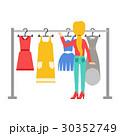 ベクトル 女性 洋服のイラスト 30352749