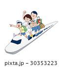 新幹線で家族旅行 30353223