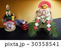鏡餅 門松 正月飾りの写真 30358541