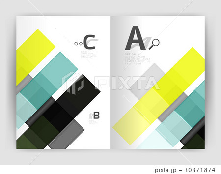 Geometrical brochure a4 business templateのイラスト素材 [30371874] - PIXTA
