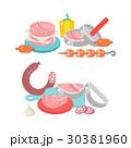 ベクトル お肉 ミートのイラスト 30381960