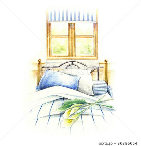 窓辺のベッド。 30386054