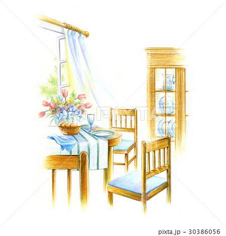 窓辺のダイニングテーブル 30386056
