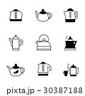 Teapot Kettle Trendy Icon Isolated 30387188