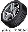 Light alloy wheel isolated 30388345