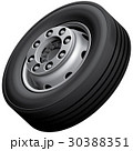 Truck wheel isolated 30388351