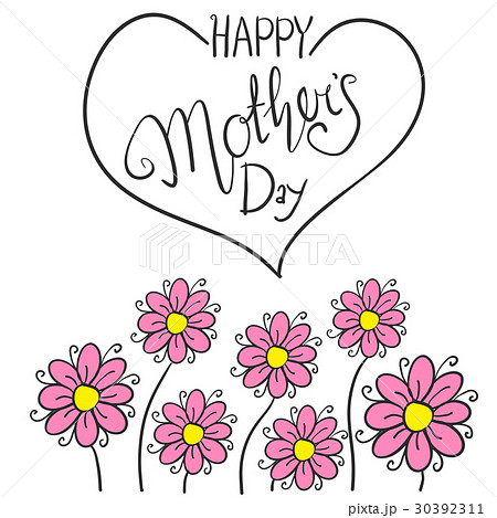Happy mother day with flowerのイラスト素材 [30392311] - PIXTA