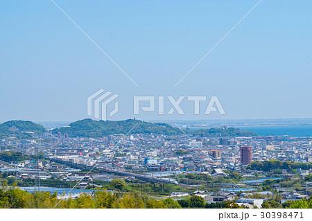 蒲郡の街と東海道新幹線 30398471