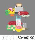 ベクトル お肉 ミートのイラスト 30406190