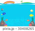海 ベクター フレームのイラスト 30408265