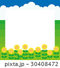 夏 向日葵 入道雲のイラスト 30408472
