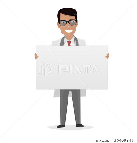 doctor on presentation white board forのイラスト素材 30409349 pixta