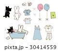 かわいいウサギと犬のイラスト。 30414559