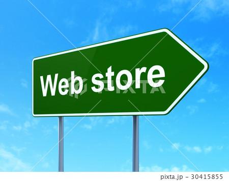 web design concept web store on road sign 30415855 pixta. Black Bedroom Furniture Sets. Home Design Ideas