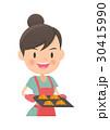 主婦 クロワッサン 鍋つかみのイラスト 30415990