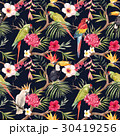 Watercolor vector tropical floral pattern 30419256
