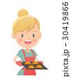 主婦 クロワッサン 鍋つかみのイラスト 30419866