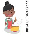 主婦 料理 鍋のイラスト 30419885