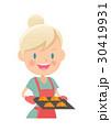 主婦 料理 クロワッサンのイラスト 30419931