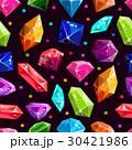 Seamless pattern with jewels and diamonds 30421986