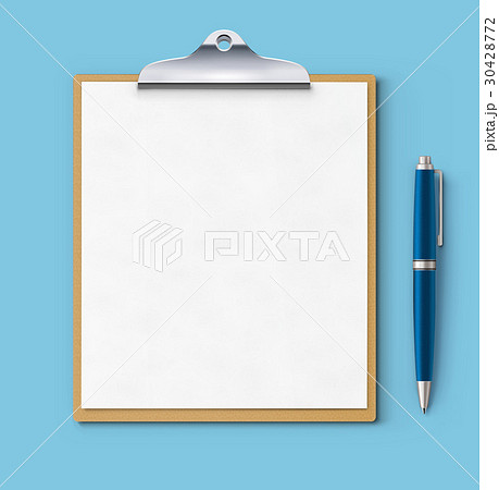 Clipboard with blank paper 30428772