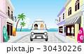 夏 ドライブ カップルのイラスト 30430226