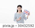 女性 国旗 イギリス 30432592