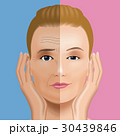 女性 顔 シワのイラスト 30439846