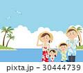 アロハシャツ 海水浴 リゾートのイラスト 30444739