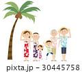 アロハシャツ 夫婦 リゾートのイラスト 30445758