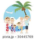 アロハシャツ リゾート 夏のイラスト 30445769