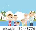 アロハシャツ リゾート 夏のイラスト 30445770