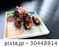 黒ウニ ウニ 活き作りの写真 30448914