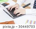 パソコン ノートパソコン デスクの写真 30449703