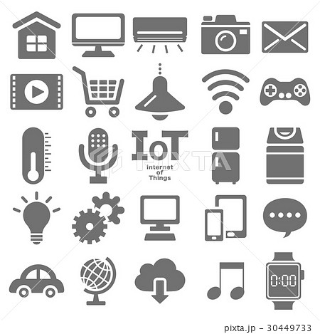 IOT(Internet of things) アイコンセット 30449733