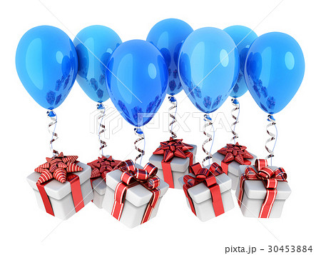 Gifts fly on balloons 30453884