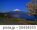 Mt.Fuji and Cherry blossoms from Yamanaka Lake 30456355