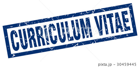 square grunge blue curriculum vitae stamp 30459445