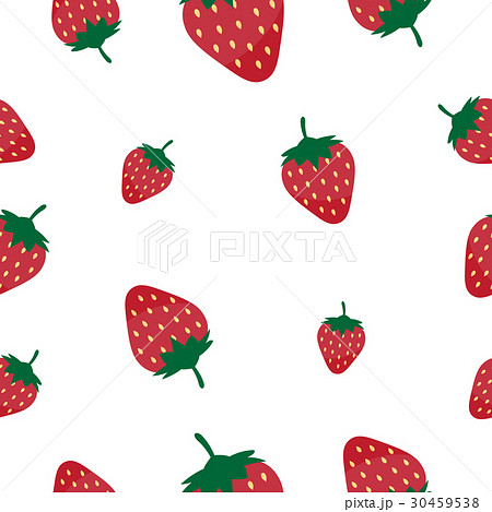 Seamless pattern strawberry vector illustration 30459538